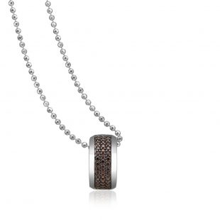 Sif Jakobs Carlino Pendant With Brown Zirconia